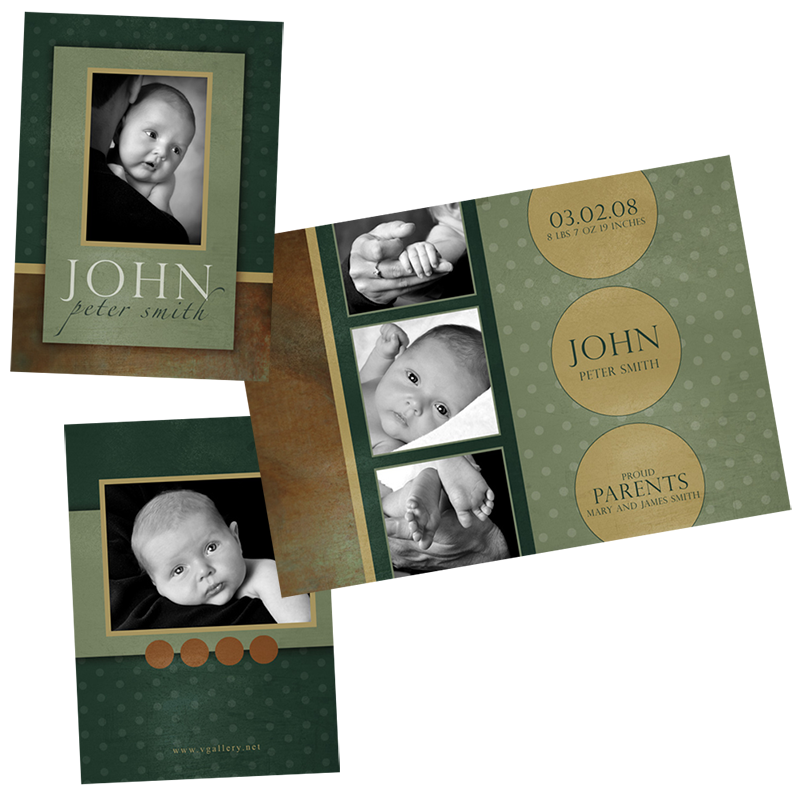 Birth Announcement - Folded 4x5.5