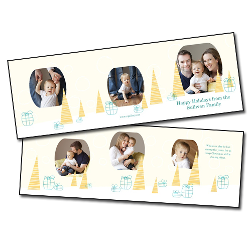 Holiday Cards {Celebrate} - 5x5 Trifold - Card 7