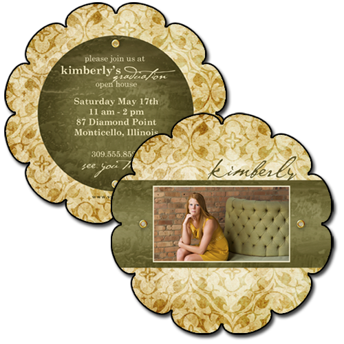 Senior Cards {Eclectic} - 5x5 Scalloped B3