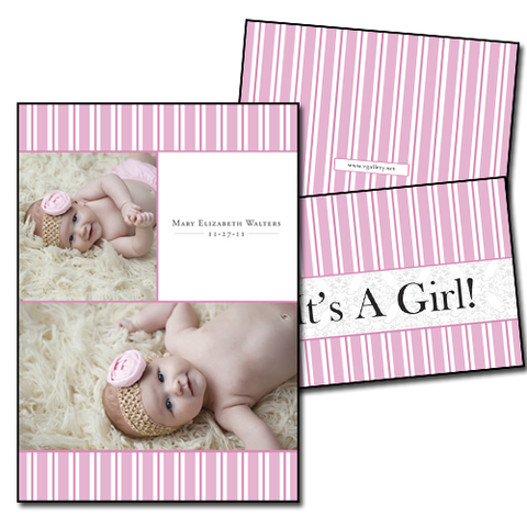 Baby Announcements {Calm} - 5x7 Card 2