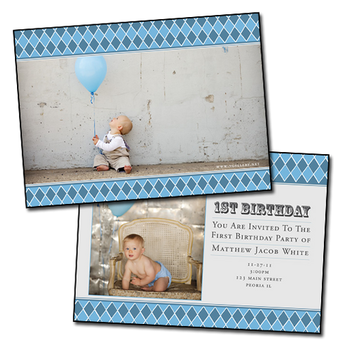 Baby Announcements {Calm} - 5x7 Card 1
