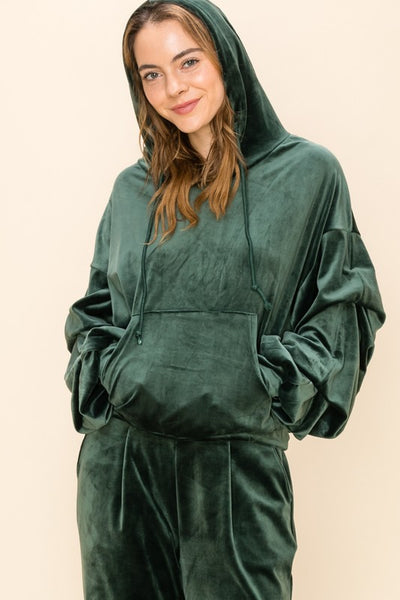 Make Yourself At Home Oversized Velour Hoodie