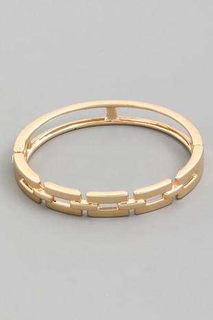 Tori Gold Hinged Bracelet