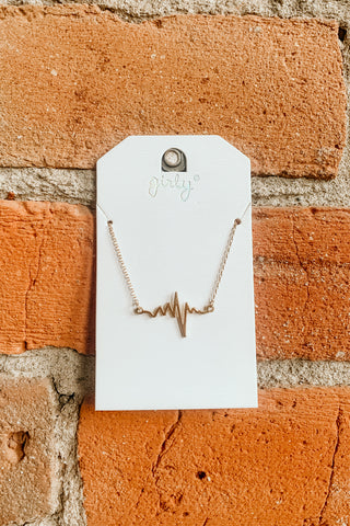 Gold Heartbeat Necklace