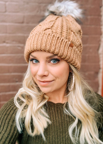 The Lodge Pom Beanie