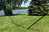 15 feet Black Steel Hammock Stand by the river