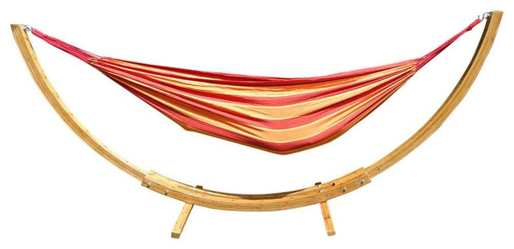 DELUXE BRAZILIAN STYLE DOUBLE HAMMOCK WITH BAMBOO STAND