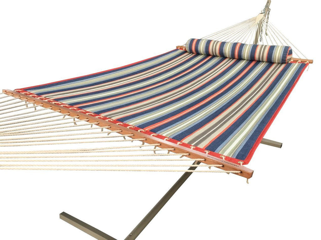 DELUXE QUILTED HAMMOCK WITH 3-BEAM STAND