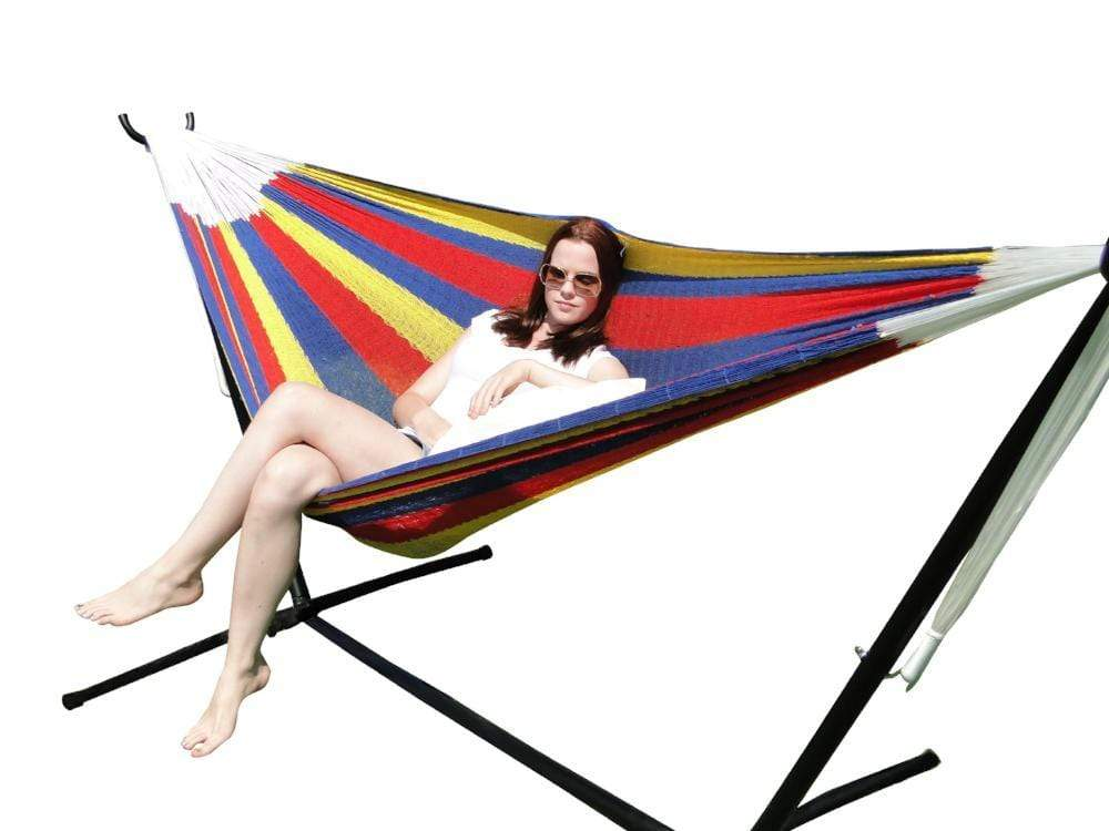 DOUBLE MAYAN HAMMOCK WITH UNIVERSAL STAND