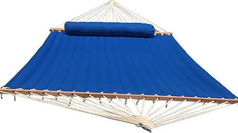 Blue quilted hammock