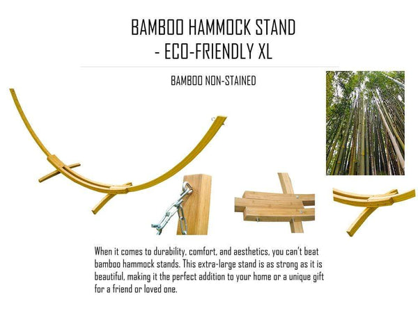 BAMBOO HAMMOCK STAND - ECO-FRIENDLY XL