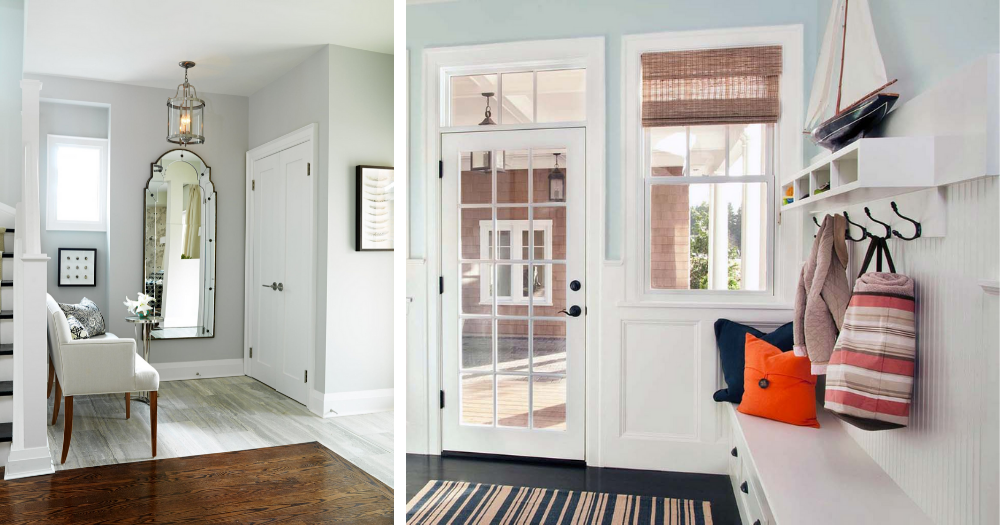 two entryways redesigned to be more organized and open