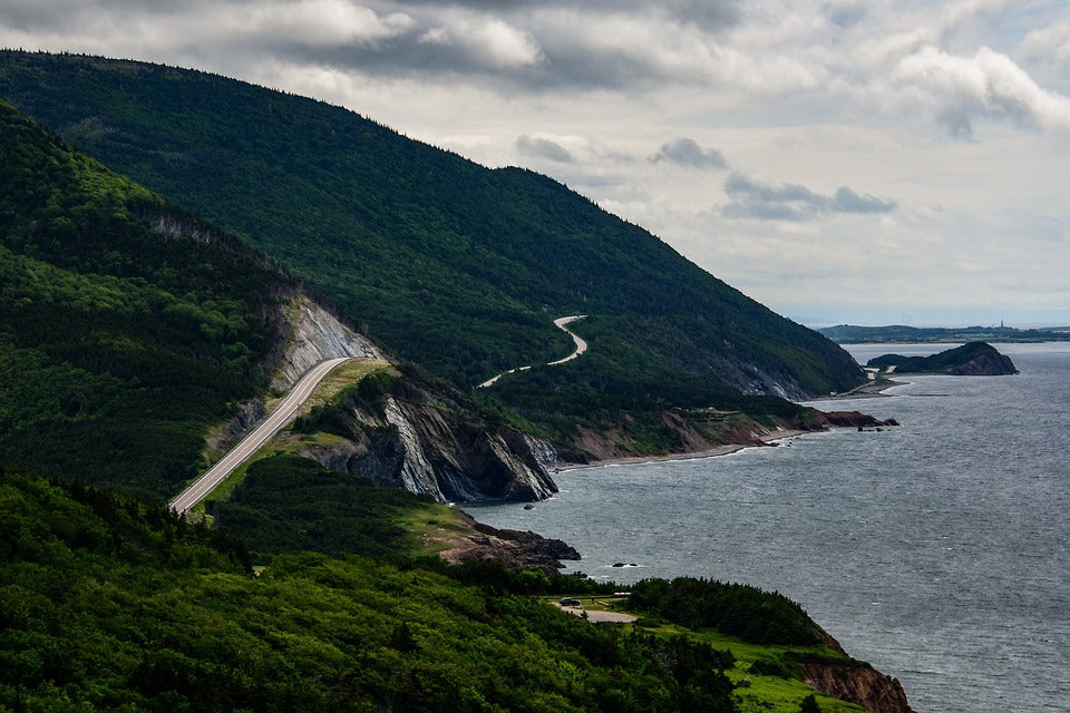 The Cabot Trail in Nova Scotia.