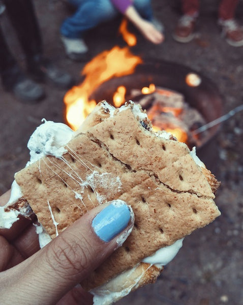 social media image of Instagram-worthy smores