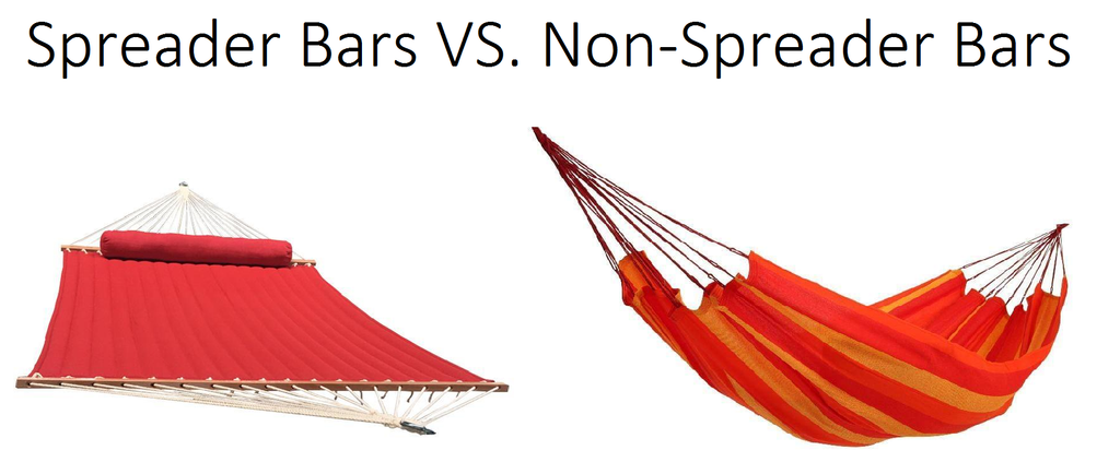Hammocks with spreader bars versus non-spreader bars
