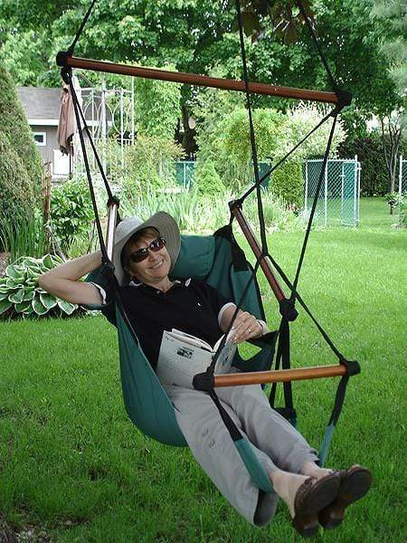 Adjustable Hanging Hammock Chair with Foot Rest - Hammock Universe Canada