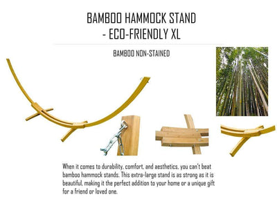 Deluxe Quilted Hammock with Bamboo Stand - Hammock Universe Canada