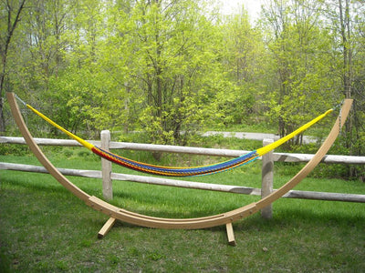 Mayan Hammock XL Thick Cord with Bamboo Hammock Stand|Hammock Universe multicolored