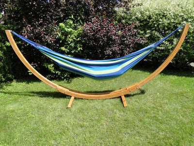 Deluxe Brazilian Style Double Hammock with Bamboo Stand - Hammock Universe Canada