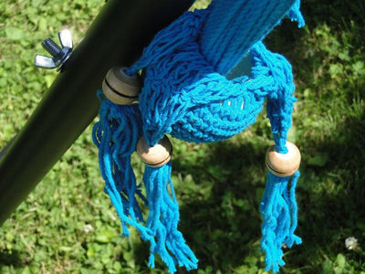 Nicaraguan Hammocks | Hammock Universe Canada blue celeste decorative ball close up