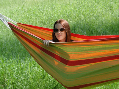 Brazilian Hammock red yellow and green | Hammock Universe Canada