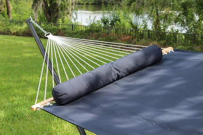 Hammock Universe Canada Olefin Double Hammock with Matching Pillow - Quick Dry and Bamboo Stand
