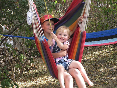 Hammock Drink Holder - Hammock Universe Canada with backward swing and children