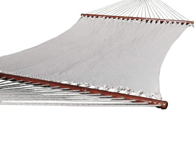 Deluxe Polyester Rope Hammock with 3-Beam Stand - Hammock Universe Canada