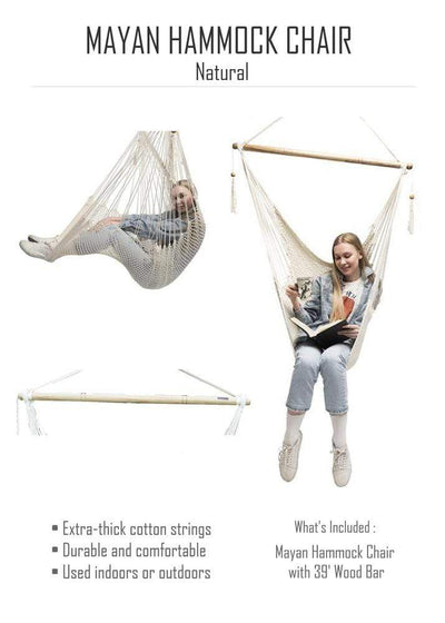 Mayan Hammock Chair with Universal Chair Stand - Hammock Universe Canada