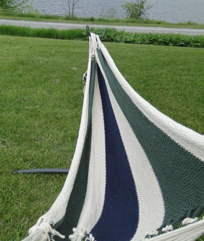 Nicaraguan Hammock with Stand | Hammock Universe Canada green blue and white