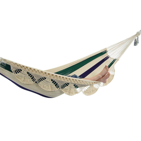 Nicaraguan Hammock with Eco-Friendly Bamboo Stand
