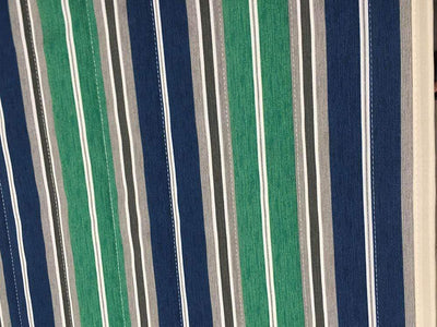 Green blue grey double hammock pattern fabric