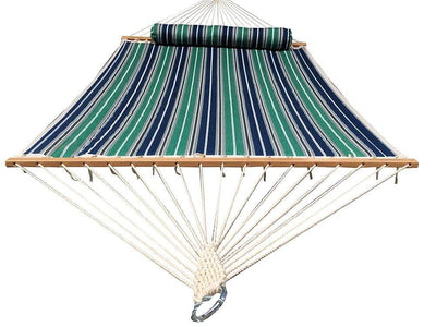 Grey blue grey double quilted hammock full
