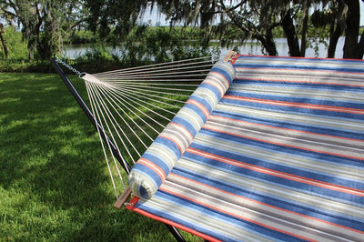 multicolored quilted hammock