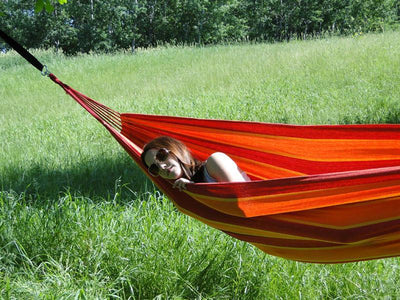 Brazilian Hammock orange red and yellow | Hammock Universe Canada