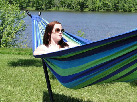 Deluxe Brazilian Double Hammock with Universal Stand