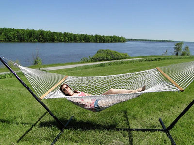 Cotton Rope Hammock with 3-Beam Stand - Hammock Universe Canada
