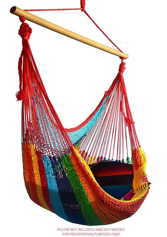 Deluxe Mayan Hammock Chair with Universal Chair Stand