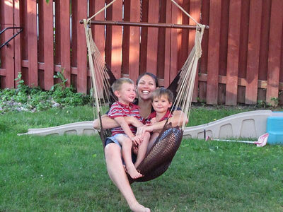 Hammock Hanging Chair Mayan | Hammock Universe Canada coffee with mom and kids