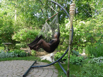 Mayan Hanging Chair Hammock with stand  | Hammock Universe Canada brown