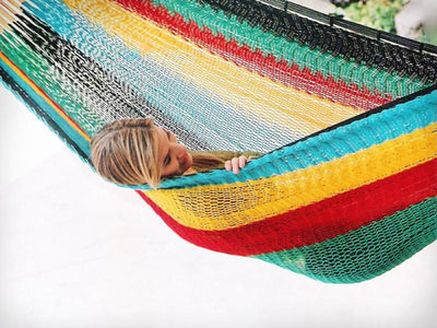 Mayan Hammock - XL Family-sized Thick Cord - Buy Online multicolored