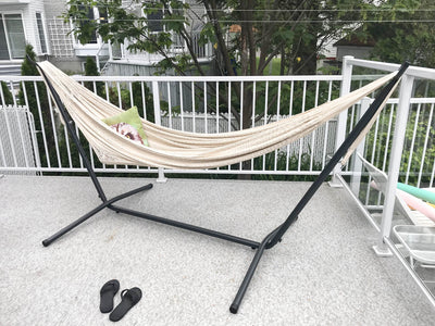 Hammock Universe Canada XL Thick Cord Mayan Hammock with Universal Stand natural / ca 738447505252 #24-MHXLTC-N+75121