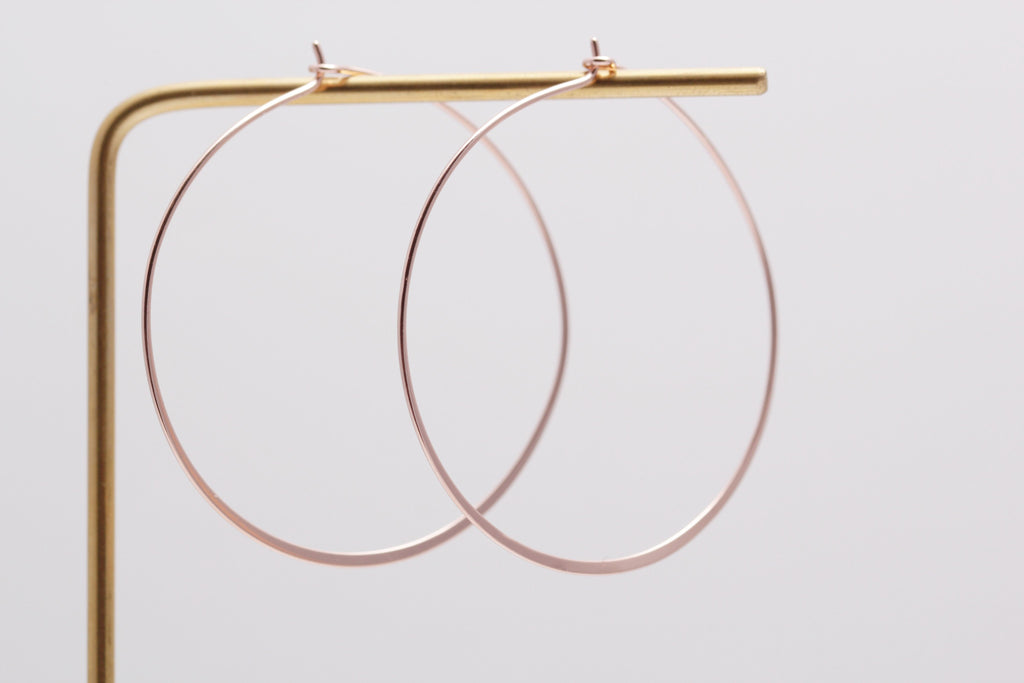 Large Tapered Hoops