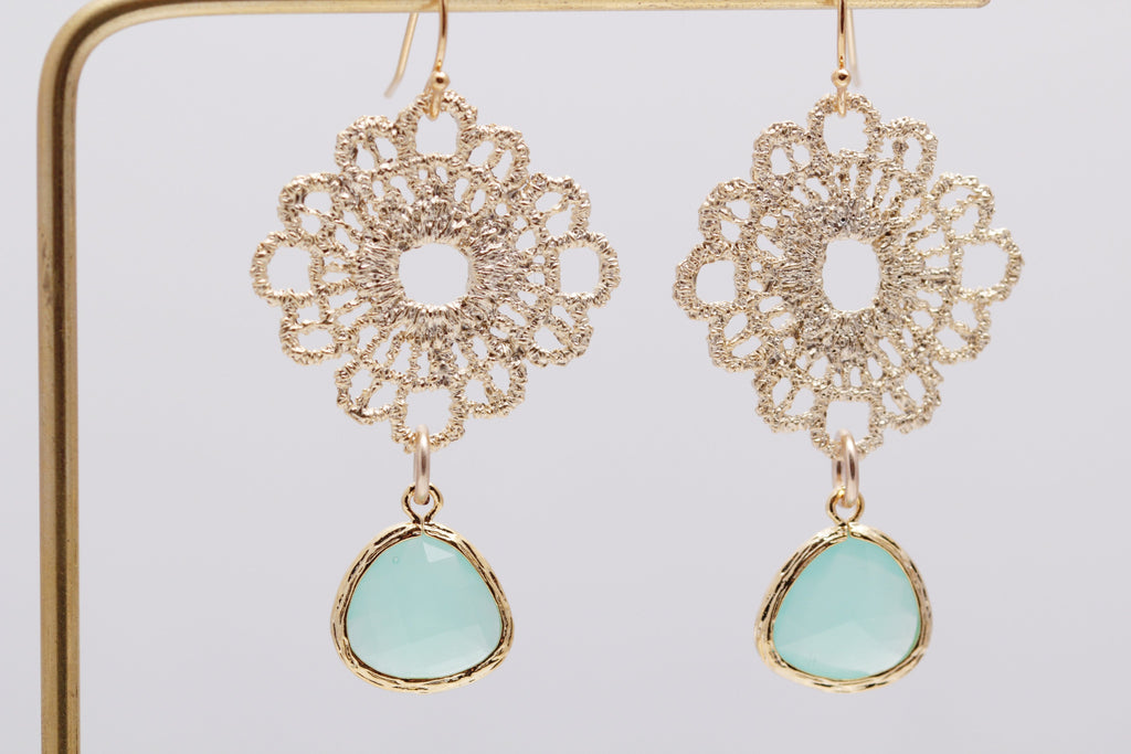 Lace Crystal Earrings