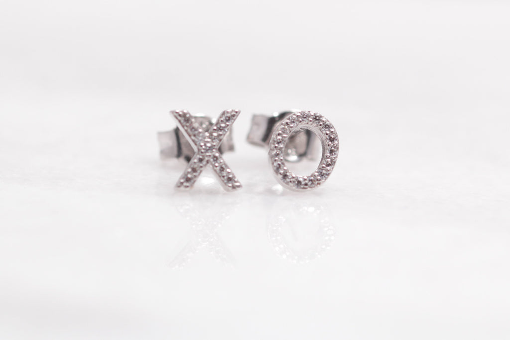 Crystal X and O Studs