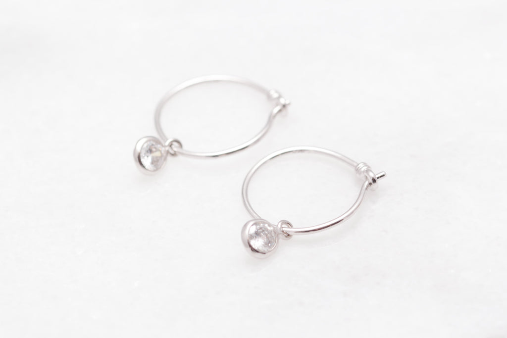 Crystal Sleeper Hoops