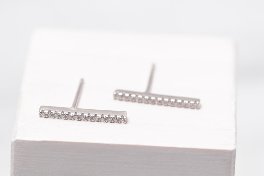 Long Pave Bar Studs