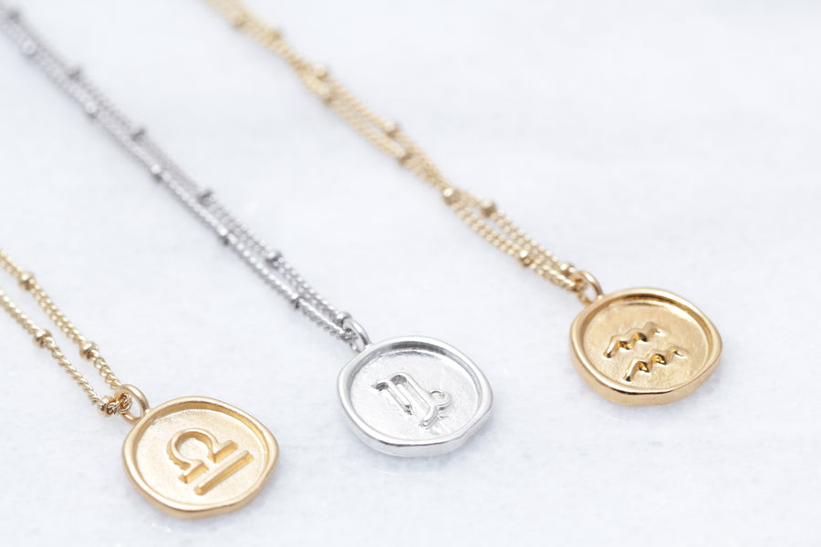 Zodiac Coin Necklaces
