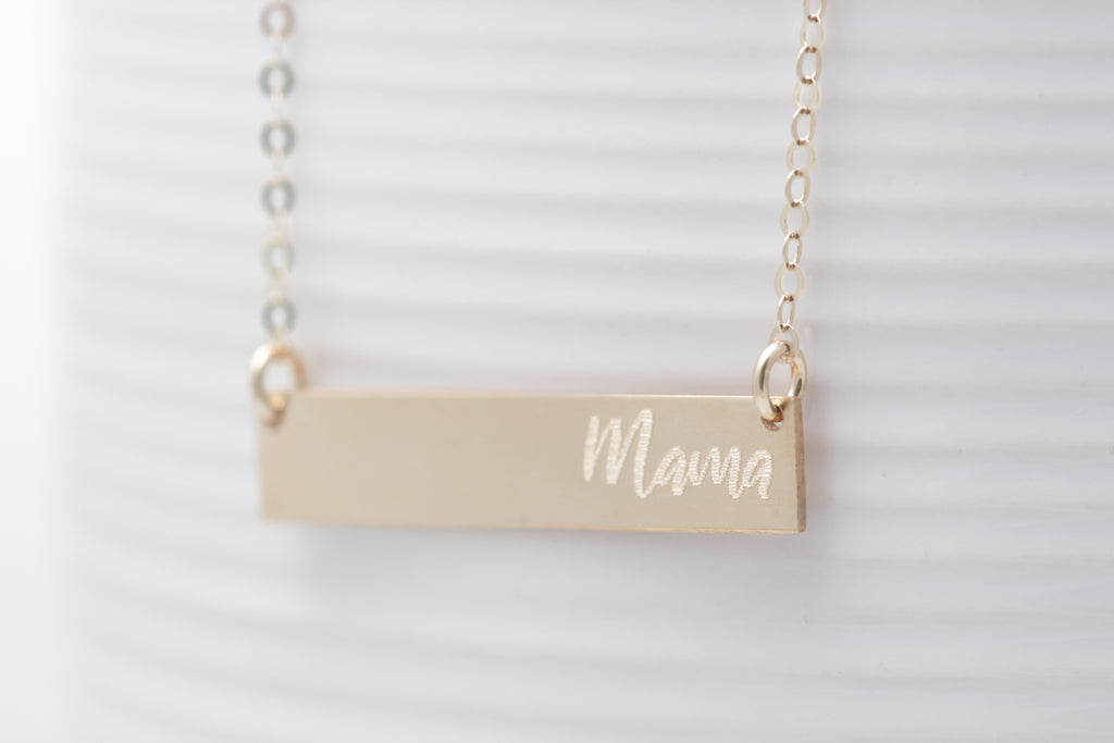 Personalized Name Bar