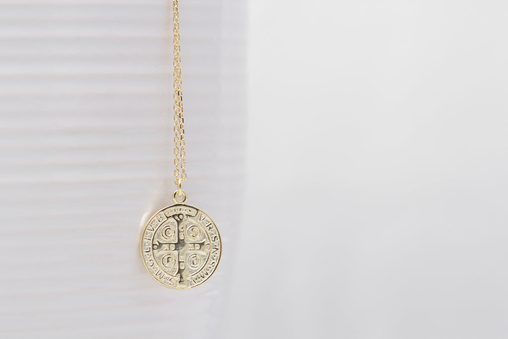 Saint  Benedict Peace Necklace